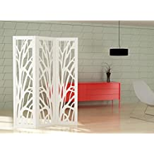 Biombo decorativo lacado blanco mate mdf 25mm