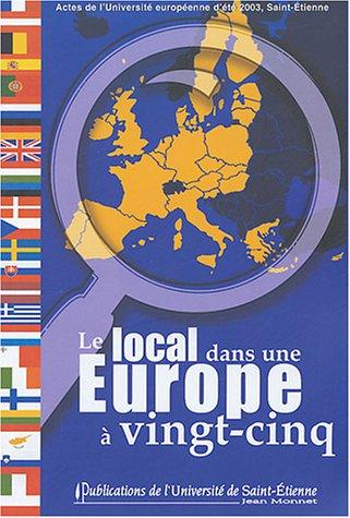 Le local dans une Europe à 25 : Associations et collectivités locales face aux enjeux de l'élargissement