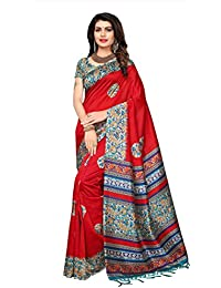Applecreation Women's Art Silk Saree With Blouse Piece (SRJM025_Red_Free Size)