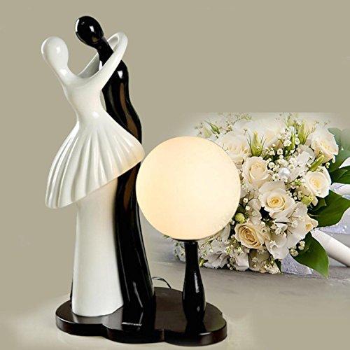 Resin Das Paar umarmt die Form Tischlampe Schreibtisch Lampe Schlafzimmer Bedside Dimmen Lampen Night Light , Weiß