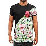 Just Rhyse Herren Oberteile / T-Shirt Flower 02 schwarz M