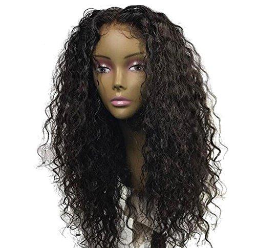 men Echthaar, Lockige Perücke Spitzeperücken Schwarze Frauen Menschenhaar Mode Lace Front Perücke 22 Zoll Für Frauen Cosplay ()