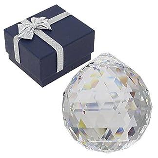 Swarovski Brillantes Bola de Cristal Colgante en Estuche de Regalo Set en Navidad Sol atrapasueños Arco Iris Cristal Feng Shui