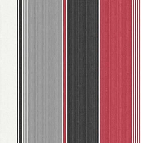 Hemingway Red Black Stripe Wallpaper 30296