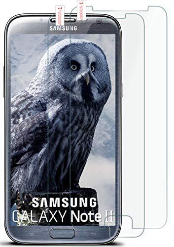 moex 2X 9H Panzerfolie für Samsung Galaxy Note 2 | Panzerglas Display Glasfolie [Tempered Glass] Screen Protector Glas Displayschutz-Folie für Samsung Galaxy Note 2 Schutzfolie