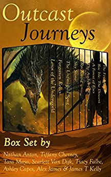 Outcast Journeys: Fantasy and Sci Fi Box Set by Eight Great Authors (English Edition) di [Falbe, Tracy, Anton, Nathan, Cherney, Tiffany, Maya, Tara, Van Dijk, Scarlett, Capes, Ashley, James, Alex, Kelly, James T]
