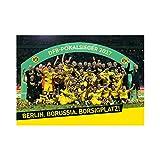 "BVB Poster zum DFB POKALSIEG Borussia Dortmund + gratis Sticker ""Dortmund forever"", Teamposter"