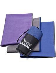 Syourself Extrafeine Faser Yoga Handtuch -61cm x 183cm oder 38cm x 61cm - gilt für Yoga, Fitness, Training, Outdoor-Sport, Rutschfestigkeit der Reise, superschweißsaugfähiges + tragbare Reisetasche
