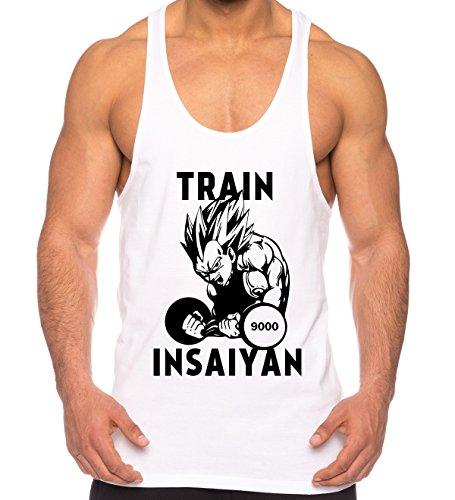 e8e179ff864 THE LION Vegeta Train Insaiyan de los Hombres Camisa del músculo One Goku  Dragon Master Son