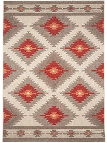 Outdoor-rot-teppich (benuta In- & Outdoor Teppich Star Kilim Rot 80x150 cm   Pflegeleichter Teppich geeignet für Innen- und Außenbreich, Balkon und Terrasse)