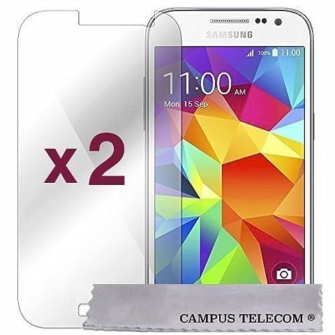 2 Films Vitre en Verre Trempé de protection ecran pour Samsung Galaxy Grand Plus by Campus Telecom®