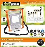 Ecobelle ® Set Wasserdichte Tasche IPX8 & USB Wiederaufladbare Tragbares LED Flutlicht 10W mit Solar Panel + Powerbank 2000 mAh