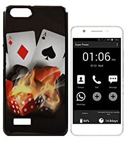 Exclusive Rubberised Back Case Cover For Micromax Canvas Hue AQ5000 - Fire On Cards.