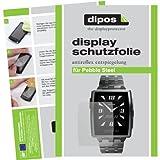 dipos I 2X Schutzfolie matt passend für Pebble Steel Folie Bildschirmschutzfolie