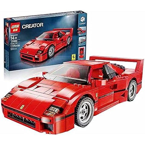 SERIE CLÁSICOS DE LEPIN: Mítico Ferrari F40 en bloques compatible Legoes de LEPIN SIN CAJA ORIGINAL.