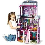 riesengroßes Puppenhaus Spooky 118 x 62 x 28 cm passend für Monster High Barbie