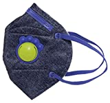 #9: Honeywell PM 2.5 anti-pollution kids mask with special valve - Denim with Blue, Pack of 5