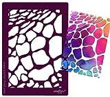 Schablone - Scrapbookingschablone - aus festem Material - WIEDERVERWENDBAR für Textildesign , Papierarbeiten , als Airbrushschablone und viele andere kreative Anwendungen - Giraffe - von zAcheR - fineT - Tierfell Tiermuster