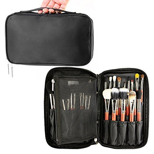 Travelmall Profi Make Up Pinsel Kosmetik Organizer Make-up Künstler Fall mit Gurtband Halter...
