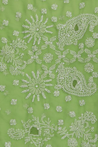 ADA-Womens-Faux-Georgette-Chikankari-Ethnic-Wear-Saree-Green-A129561
