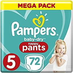 Pampers Baby Dry Pants Couche-Culotte Taille 5 12-17 kg Méga Pack x 72 Pièces