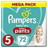 Pampers - Baby Dry Pants - Couches-culottes Taille 5 (12-17 kg) - Mega Pack...