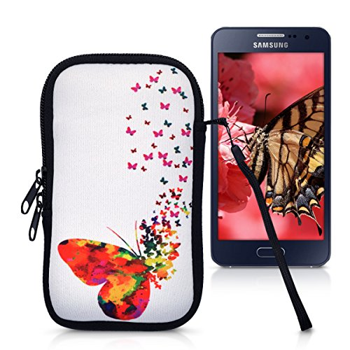 kwmobile Handytasche Neopren Sleeve für Smartphones M - 5,5