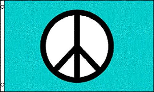 AZ FLAG Bandera SÍMBOLO DE LA Paz Azul 150x90cm - Bandera Peace 90 x