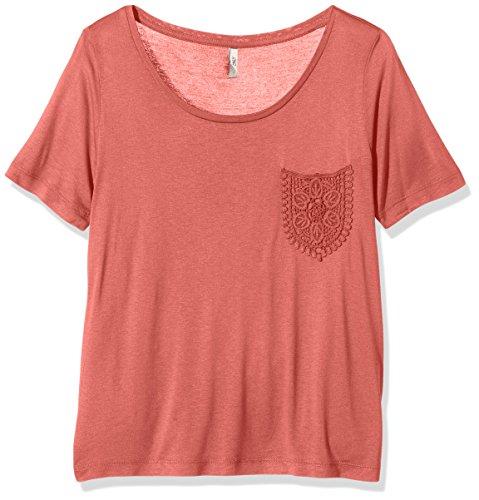 ONLY Damen T-Shirt Onlida Ss Pocket Top Ess Rosa (Faded Rose)