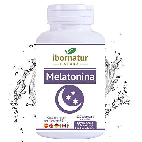 Melatonina para conciliar el sueño | Beneficioso para dormir mejor por más tiempo y relajarse | Reduce el insomnio, estres y fatiga | Extractos de plantas para descansar | Complemento alimenticio
