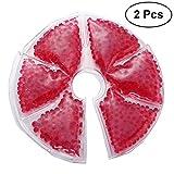 Healifty 2 Stück Thermoperlen Brusttherapie Kalt-/Warmkompresse Brustpflege für Stillende Mütter (Rot)