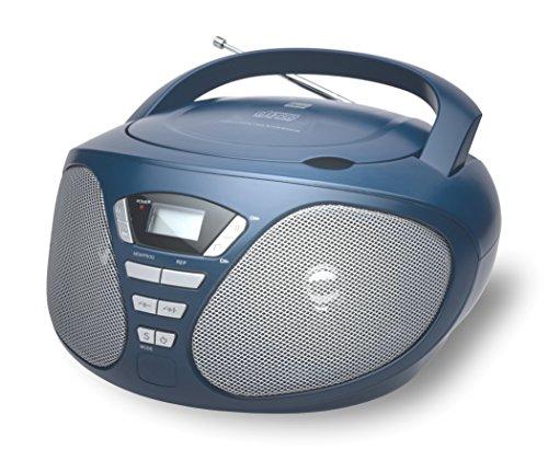 Dual P 49 Blau portable Boombox (CD-Player, UKW-Radio, AUX-In-Anschluss, Kopfhöreranschluss) blau
