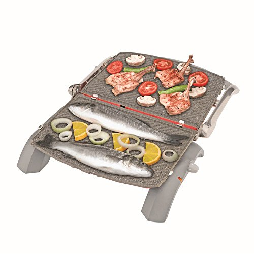 ARZUM AR292B Granite Grill and Sandwich Maker, Aluminium, Blue, 28 x 28 x 28 cm