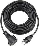 Brennenstuhl Qualitäts-Gummi-Verlängerungskabel (10m, IP44, Kabel für außen) schwarz