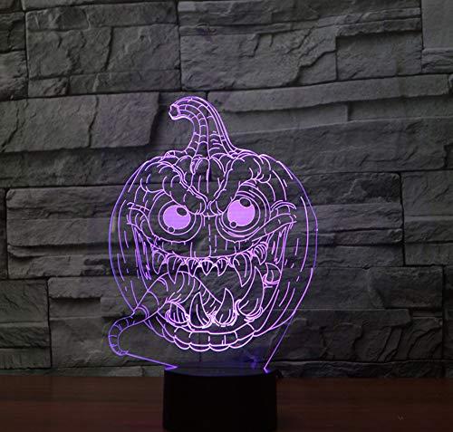 Bunte Nacht der Halloween-Kürbis-Noten-3d beleuchtet energiesparende Steigungs-kleine Geschenke (Bereiten Einen Kürbis Sie Halloween Für)