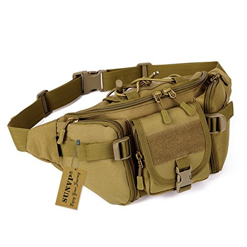 SUNVP Tactical Military Taillen-Beutel-Satz Fanny Tasche Gürteltasche Hip-Gürteltasche für den Außenlauf Camping Trekking Wandern