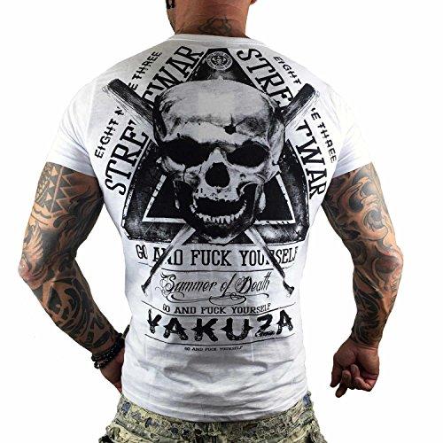 Yakuza Original Herren Streetwar T-Shirt Weiß