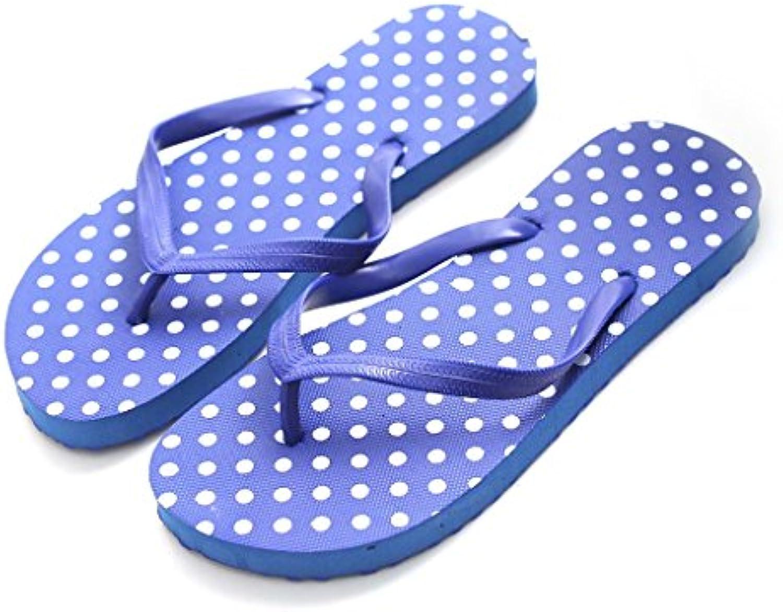 Lamdoo Sandalias de Playa para Mujer, Zapatillas de Verano, Sandalias Planas, EVA, Azul Real, 39-40