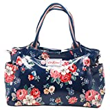 Cath Kidston Across Body/Grab Bag in Forest Bunch Navy Oilcloth