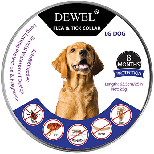 Dewel Collar Antiparasitos Perros/Gatos Contra Pulgas,Garrapatas