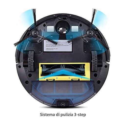 comprare on line ILIFE A4s Robot Aspirapolvere, Molteplici Modalità di Pulizia, Auto-ricarica Sensori Anti-Caduta, Adatto a Pavimenti e Tappeti prezzo