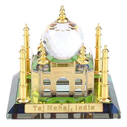 Hztyyier 3D Taj Mahal Architektur Modell Kits Muslim Kristall Vergoldete Taj Mahal Indische Gebäudemodell für Home Desktop Dekoration Geschenke -