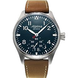 Alpina Geneve Startimer Pilot AL-280N4S6 Reloj de Pulsera para hombres Legibilidad Excelente