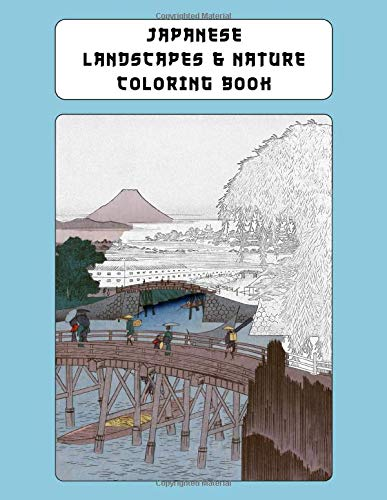 Zoom IMG-2 japanese landscapes nature coloring book