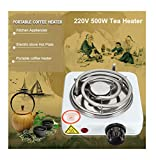 SaleOnTM 500W Electric Stove Hot Plate Portable Kitchen Cooker l Charcoal Burner for Hookah l Electric Coal Lighter,Electric Sigdi with Adjustable Switch(Black/White)-839