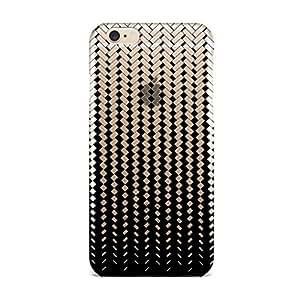 QRIOH Scratchproof Printed Case Jail Black Transparent case for iPhone 6-2M020616PD384