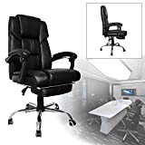 HENGDA Bürodrehstuhl Stuhl Premium Gaming Komfort Gepolsterte Armlehnen Racing Stuhl Belastbarkeit 200 kg Höhenverstellbar (schwarz)
