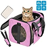 Vailge Cat Carrier Dog Carrier Airline Approved Pet Carriers for Small Medium Cats Dogs Puppies Bunny of 15lbs, Small Dog Soft Sided Carrier Collapsible Puppy Carrier (Pink)