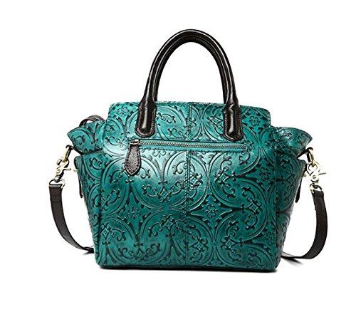 DJB/Leder Blumen für Frau Mobile shoulder-slung Wing Tasche Blau