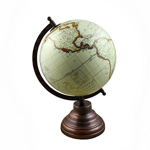 Mapa del mundo del globo de escritorio Earth con recursos de aprendizaje del soporte para los cabritos y los profesores, oficina y escuela, 12,5 pulgadas